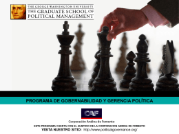 programa de gobernabilidad y gerencia política