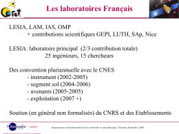 Les laboratoires Français