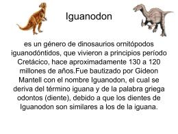 Iguanodon es un género de dinosaurios ornitópodos