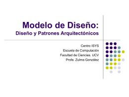 Modelo de Diseño - Facultad de Ciencias-UCV