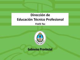 FinEs Tec Rectores - Dirección de Educación Técnico Profesional