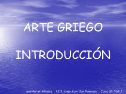 Arte griego. Introducción