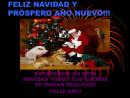 FELIZ NAVIDAD Y PRÓSPERO AÑO NUEVO!!!