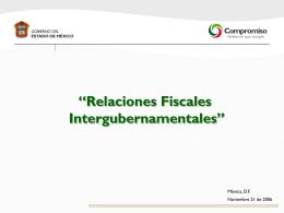 Relaciones Fiscales Intergubernamentales