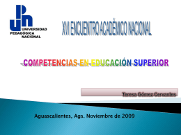 Presentación - Universidad Pedagógica Nacional, Unidad 011
