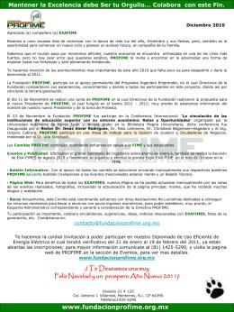 Información de Diciembre 2010 - Fundacion Pro-FIME