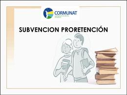 Subvención Pro Retención 2014