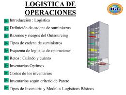 logistica de operaciones