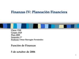 PLANEACIÓN FISCAL FINANCIERA La planeación fiscal financiera