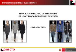 Estudio de mercado de tendencias de uso y moda de prendas de