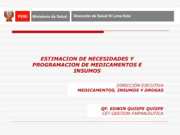 Programación de Medicamentos e Insumos