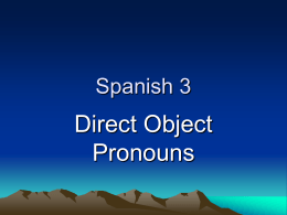 Direct Object Pronouns Powerpoint