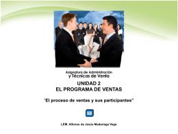 El proceso de ventas y sus participantes