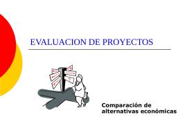 Presentación 8: Comparación de alternativas económicas