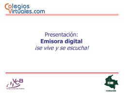 Emisora digital - Colegios Virtuales