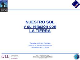 Conferencia Sol y Tierra - Universidad de La Laguna