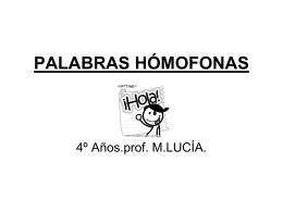 PALABRAS HÓMOFONAS