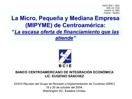 Situación de las Microfinanzas en Centroamerica