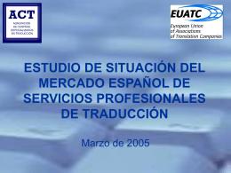 estudio de situación del mercado español de servicios