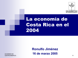 Situación económica: 2004-2005