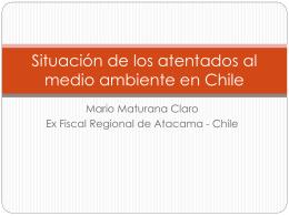Situación de los atentados al medio ambiente en Chile