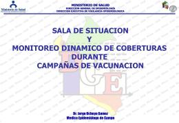 Salas de Situación Campaña de vacunación Hepatitis B Perú