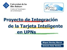 Implantación en la UIB
