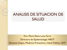 ANALISIS DE SITUACION DE SALUD - CMP