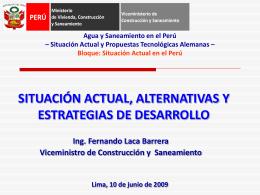SITUACIÓN ACTUAL, ALTERNATIVAS Y ESTRATEGIAS DE