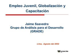 Empleo en el Perú: Situación, Perspectivas y Rol de la