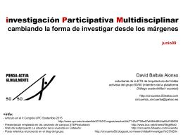 Investigación Participativa Multidisciplinar_junio09