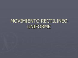 Movimiento rectilíneo