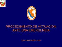 04. Procedimiento Reporte de Emergencia - SINPAD