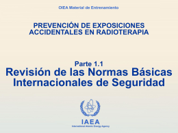 1.1 BSS principales requisitos - International Atomic Energy Agency