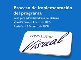 Proceso de implementación del programa