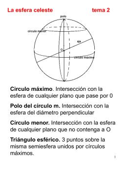 La esfera celeste tema 2