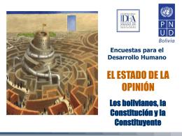 Slide 1 - Informe sobre Desarrollo Humano en Bolivia