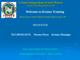 Kronos Time Management System - United Independent School