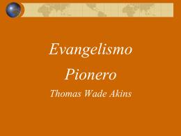 Evangelismo PIONERO