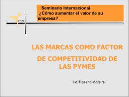 Las marcas como factor de competitividad de las Pymes