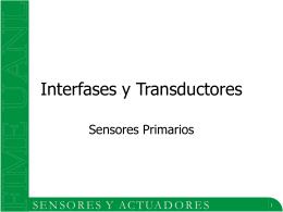 Sensores Primarios