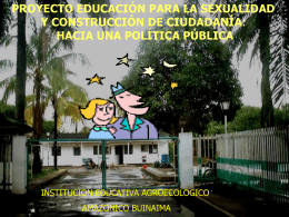 Proyecto educación para la sexualidad y construcción de ciudadanía