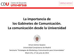 Comunicación - Centro de Desarrollo Universia
