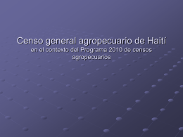 Censo general agropecuario de Haití
