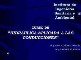 """FIUBA CÁTEDRA DE """"HIDRÁULICA GENERAL"""" Y"""