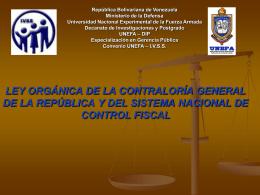ley orgánica de la contraloría general de la república y del sistema