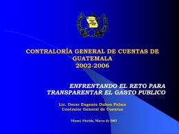 CONTRALORÍA GENERAL DE CUENTAS