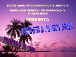 Reformas a la Ley de Migración y Extranjería