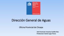 Dirección General de Aguas - Junta Vigilancia Río Choapa