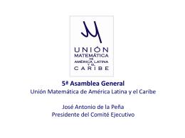 5ª Asamblea General Unión Matemática de América Latina y el